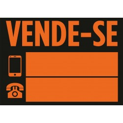 Placa VENDE-SE 700x500mm...