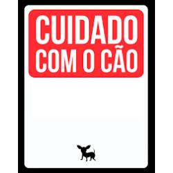 Placa Cuidado com o Cão...