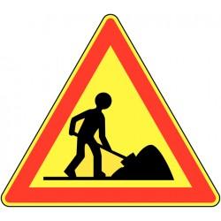 Placa de Sinalização Obras...