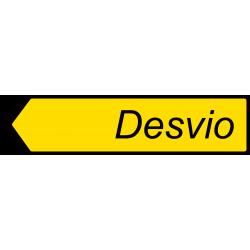 Placa de Direção Desvio...