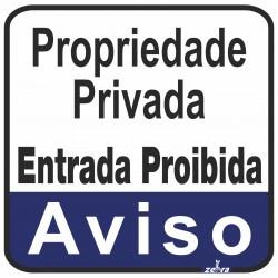 Placa Propriedade Privada...