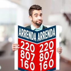 Placa ARRENDA 2x...